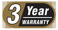 3 anni di garanzia waterproof