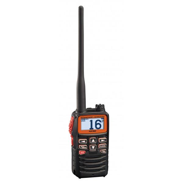 STANDARD HORIZON HX40E, RICETRASMETTITORE VHF ULTRA COMPATTO, 6W, BATTERIA LI-PO A LUNGA DURATA, IPX7.